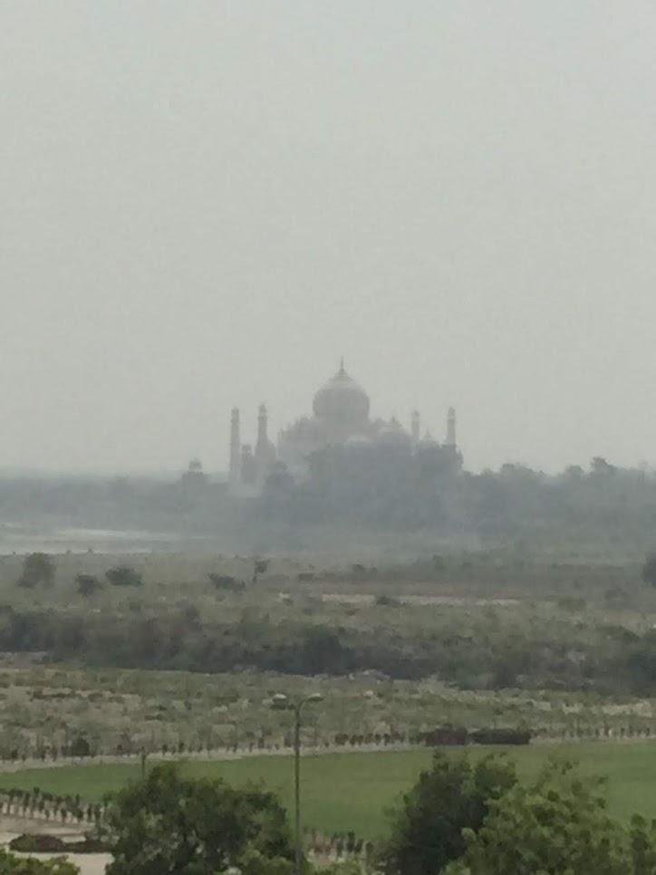 A foto está com zoom, mas dá pra ver um pouco da qualidade do ar