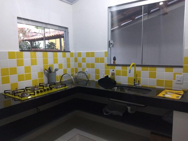 Cozinha novíssima do hostel