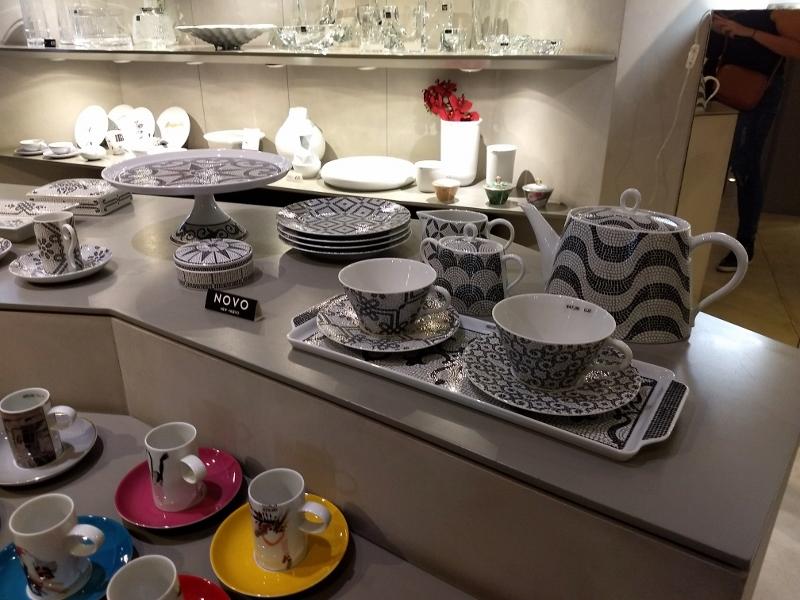 Porcelanas da loja Vista Alegre