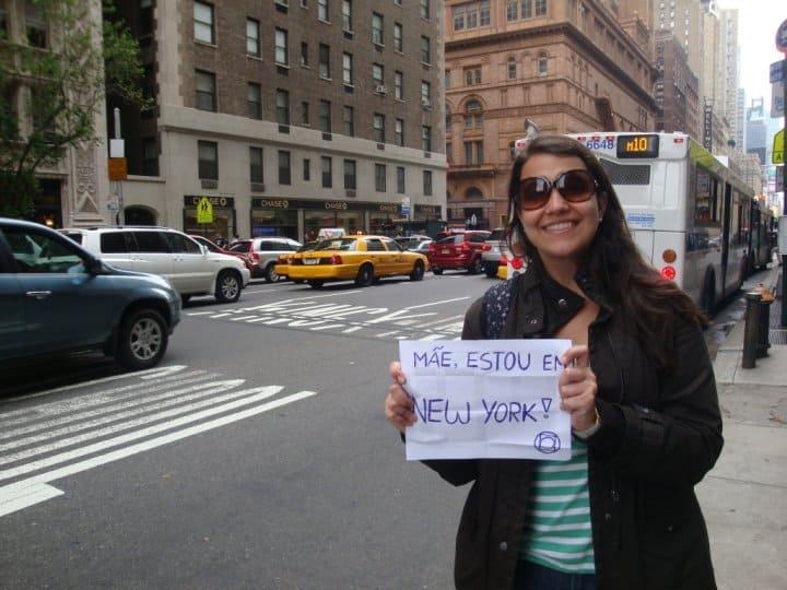 Em 2010 era assim que a gente avisava a mãe que estava em Nova York rs